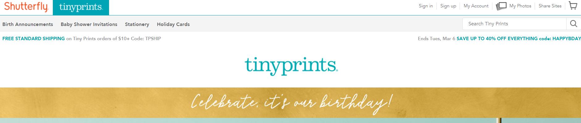 TinyPrints- Art Affiliate Programs