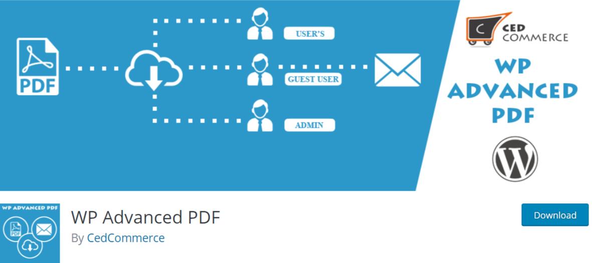 WP Advanced PDF — WordPress PDF Viewer Plugins
