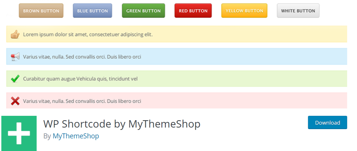 WP Shortcode by MyThemeShop — WordPress Shortcode Plugins