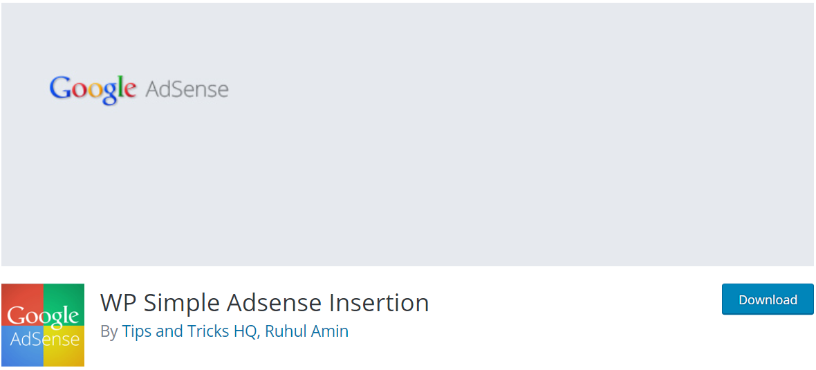 WP Simple Adsense Insertion —AdSense Plugins For WordPress