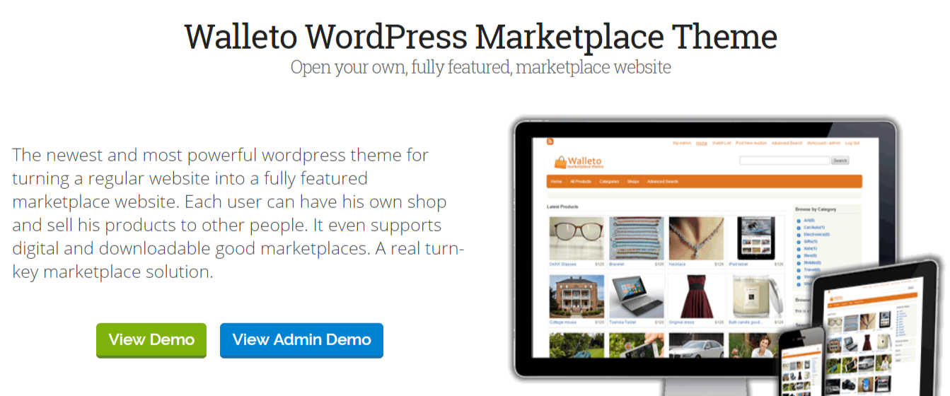 Walleto -WordPress Marketplace Themes