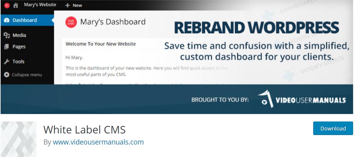 White Label CMS — WordPress Admin Themes