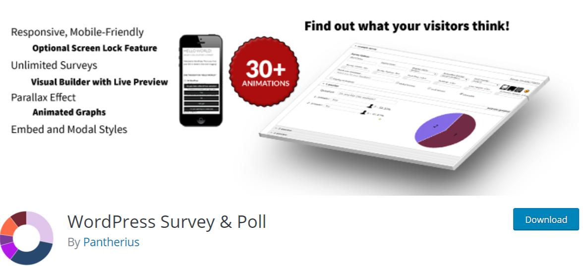 WordPress Survey & Poll- WordPress Poll Plugins