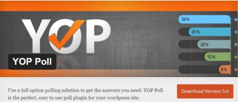 YOP Poll- WordPress Poll Plugins