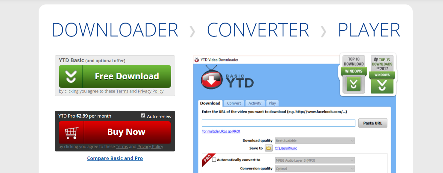 YTD- Facebook Video Downloader