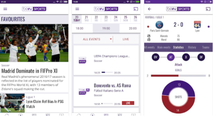 BeIN SPORTS – Live Sports Streaming App