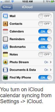 iCloud- iOS Calendar Syncing