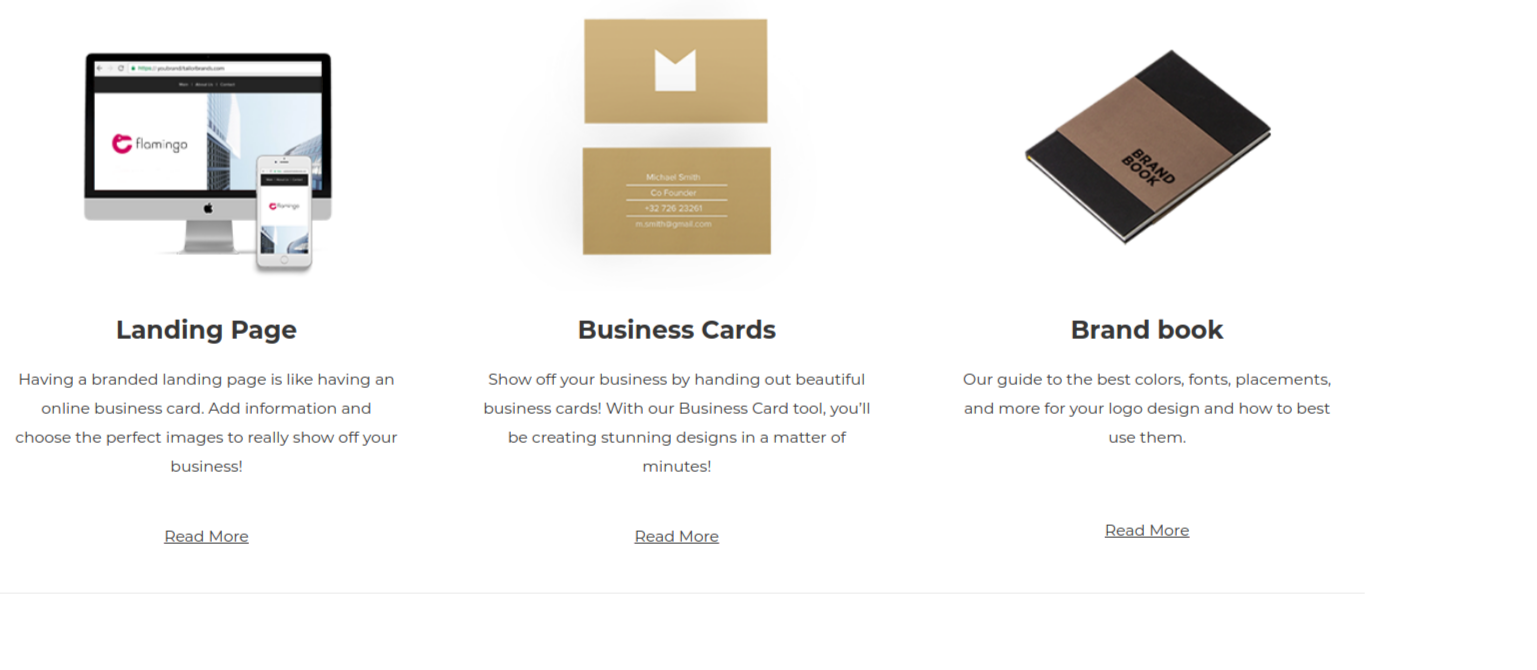 Branding Tools 1 - Tailor Brands Review & Coupon Code