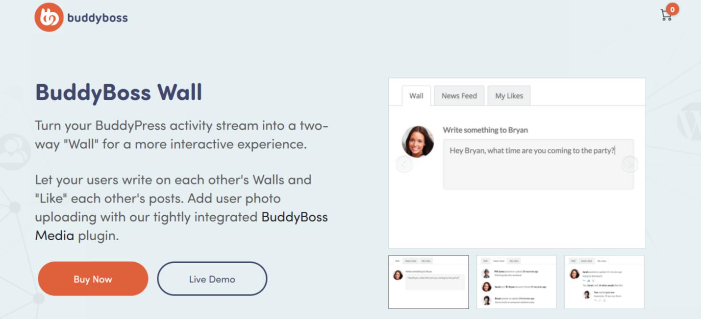 BuddyBoss Wall- Best BuddyPress Plugins
