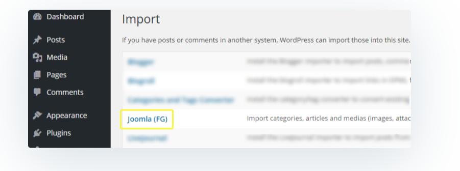 Choose Joomla- Migrate Joomla to WordPress