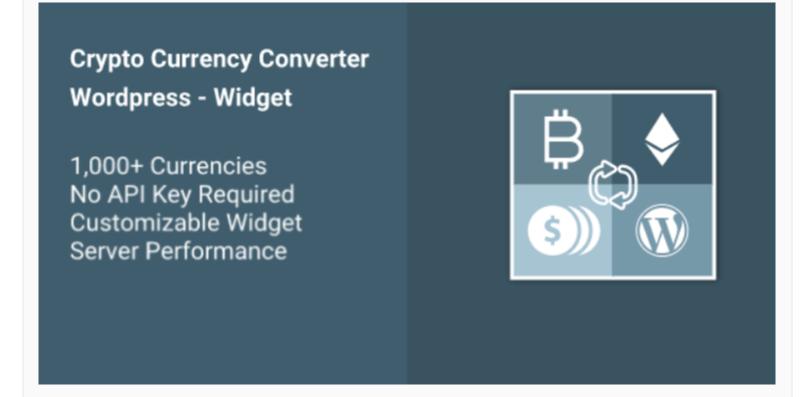 Cryptocurrency Converter WP Widget