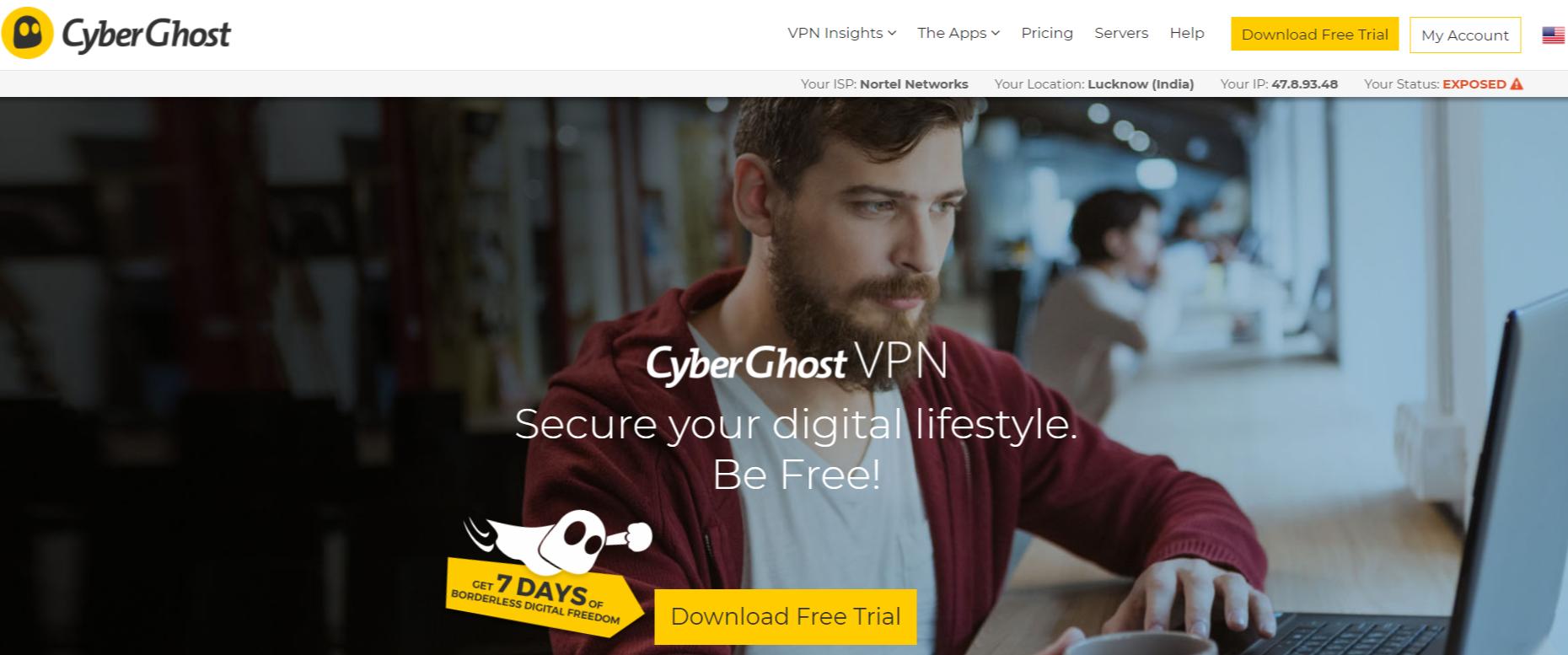 CyberGhost VPN- Best VPN For Egypt