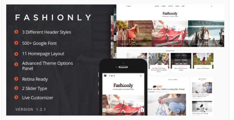 Fashionly - Fashion WordPress Themes