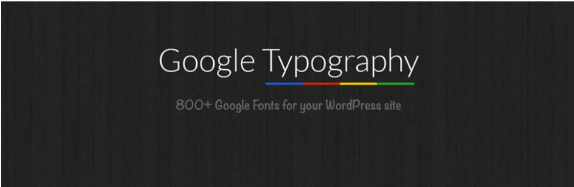 Google Typography — Typography WordPress Plugins