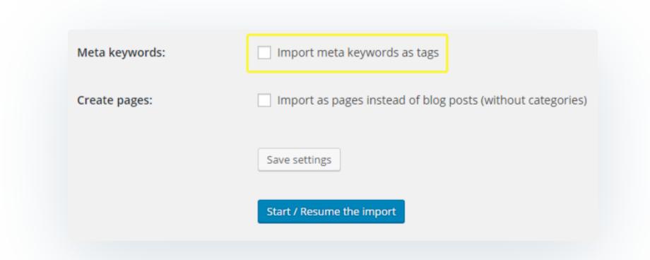 Import Meta Keywords- Migrate Joomla to WordPress