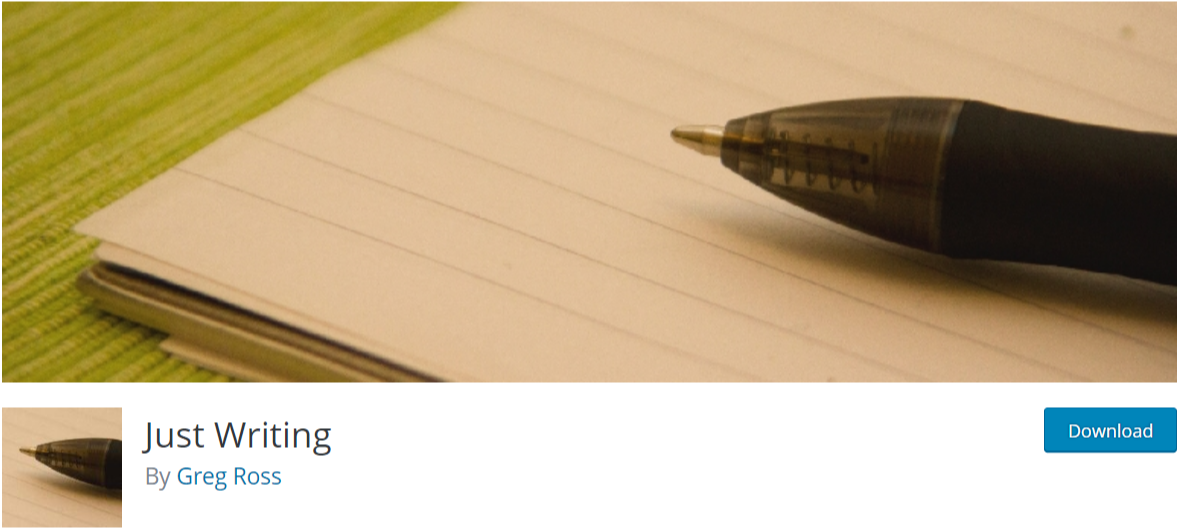 Just Writing — Typography WordPress Plugins