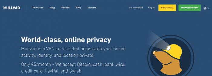Mullvad- Best VPN For Syria
