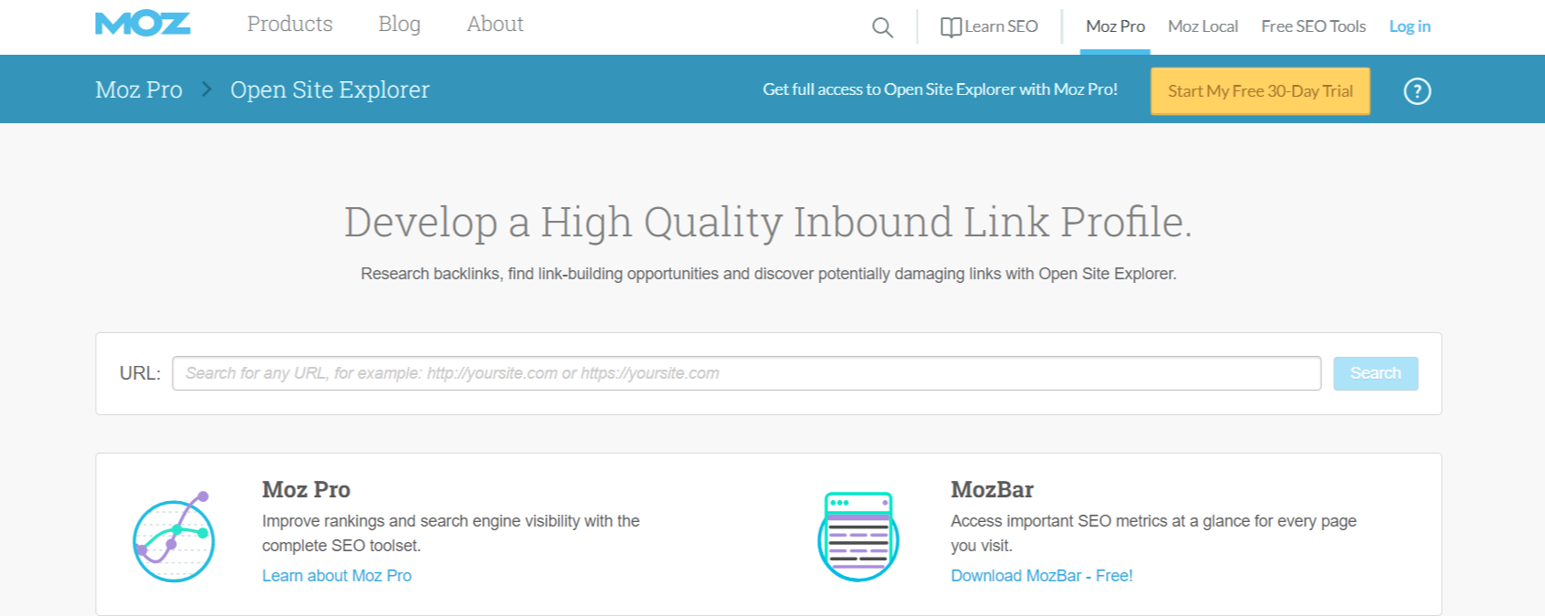 Open Site Explorer- WordPress SEO Tools