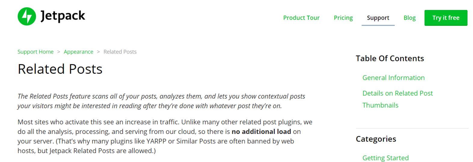 Jetpack Related Post Module- Related Post WordPress Plugins