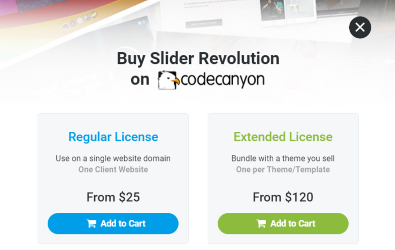 Slider Revolution Pricing