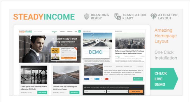 SteadyIncome -WordPress Blog Themes