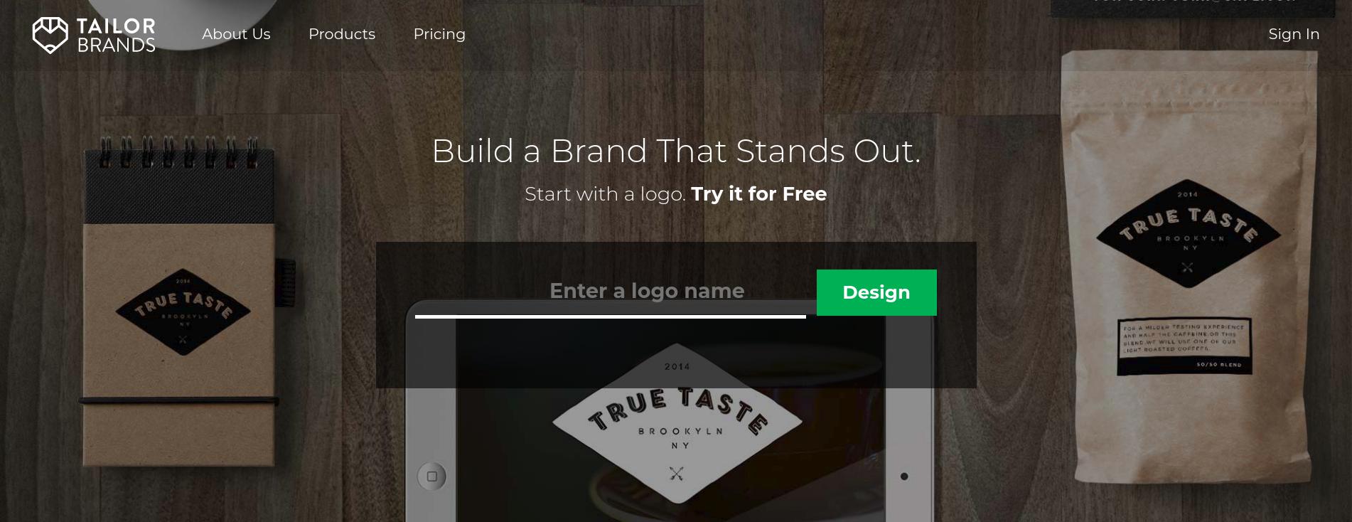 Tailor Brands Review - Design a Logo