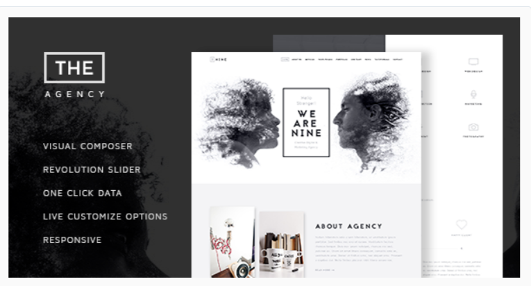 The Agency - Fashion WordPress Themes