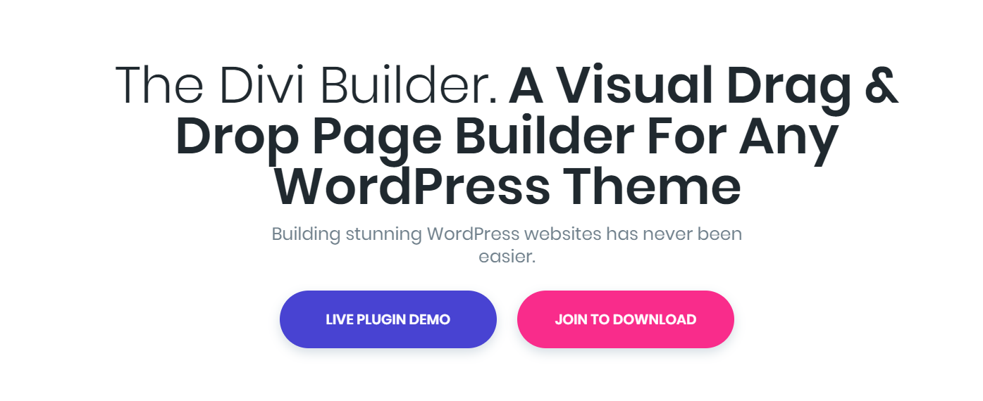 The Divi Builder — WordPress Page Builder Plugins