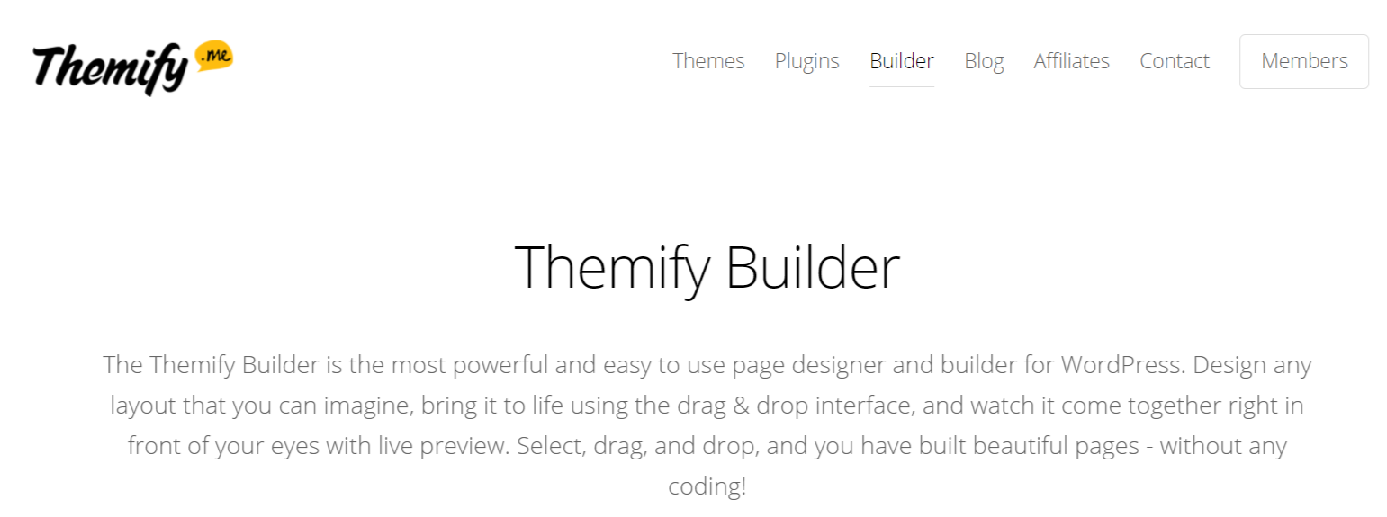 Themify- WordPress Page Builder Plugins