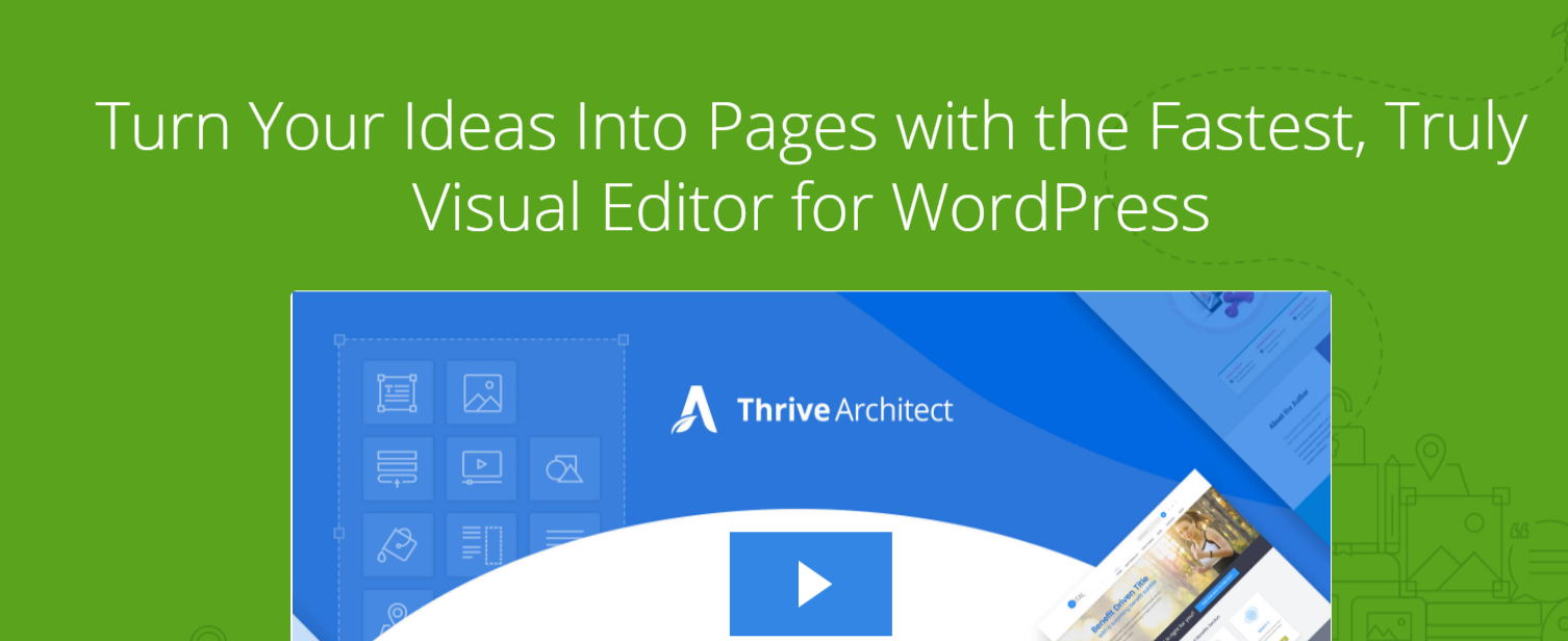 Thrive Architect - WordPress Page Builder Plugins
