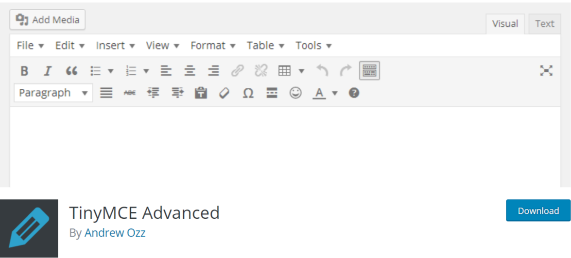 TinyMCE Advanced — Typography WordPress Plugins