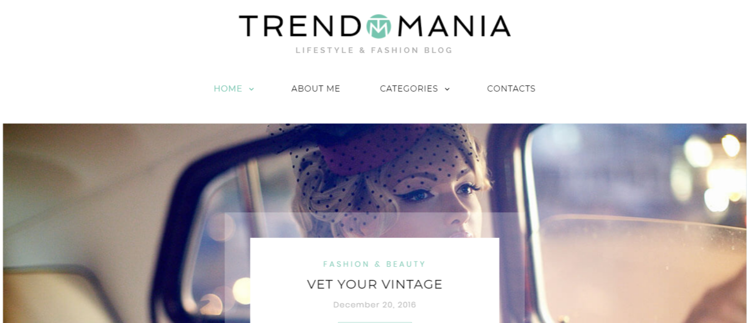 Trendomania Lifestyle - Fashion WordPress Themes