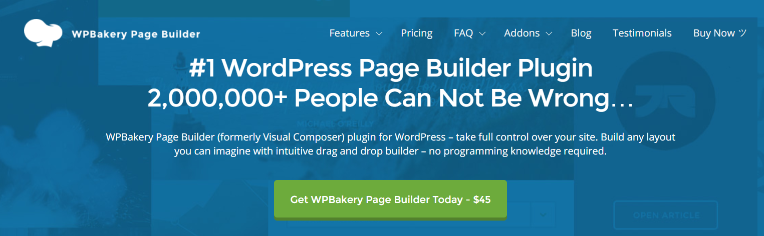 WPBakery - WordPress Page Builder Plugins