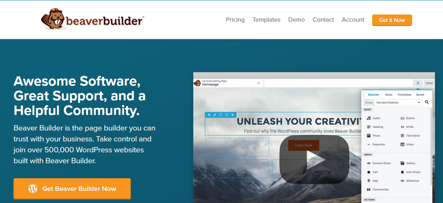 Beaver Builder - WordPress Page Builder Plugins
