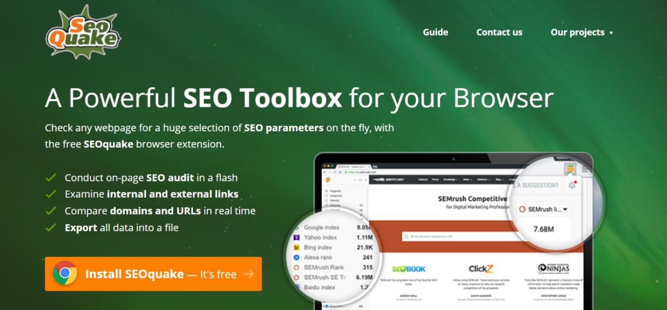 WordPress SEO Tools – SEOquake
