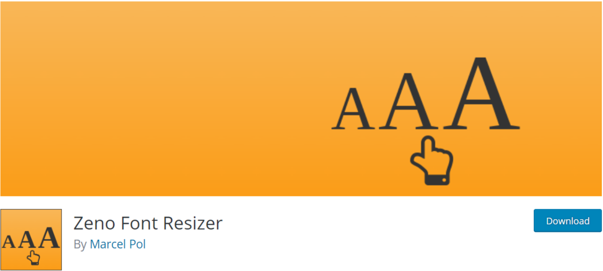 Zeno Font Resizer — Typography WordPress Plugins