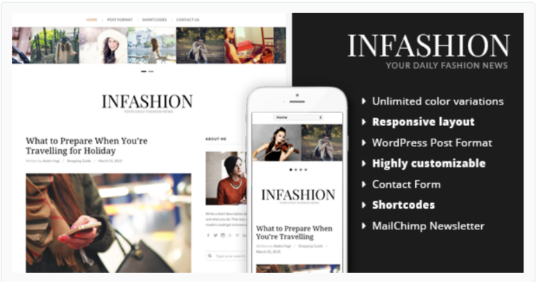 inFashion - Fashion WordPress Themes