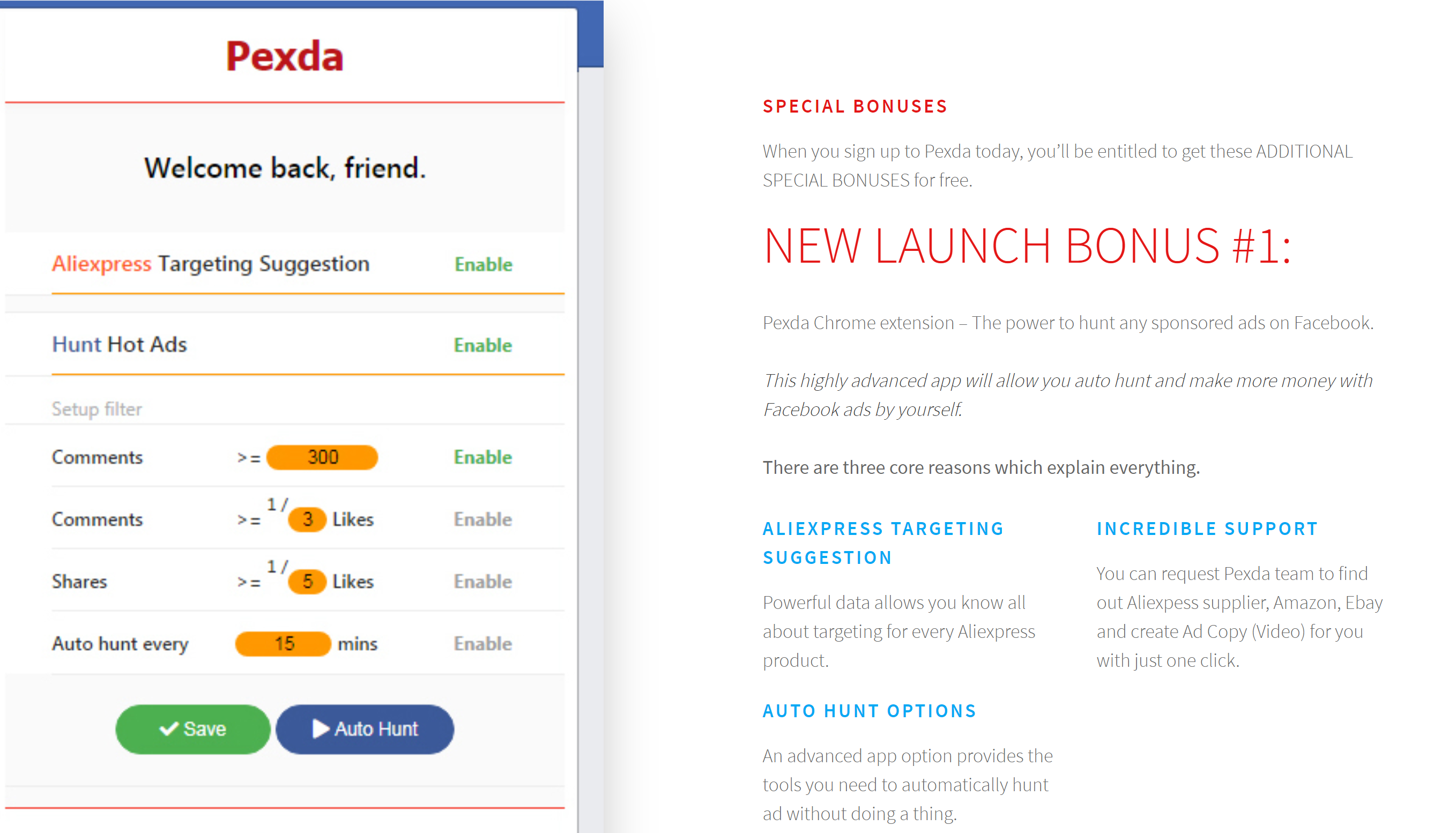 Pexda Chrome extension – The power to hunt any sponsored ads on Facebook.