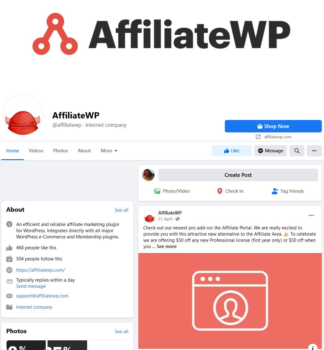 AffiliateWP-Facebook