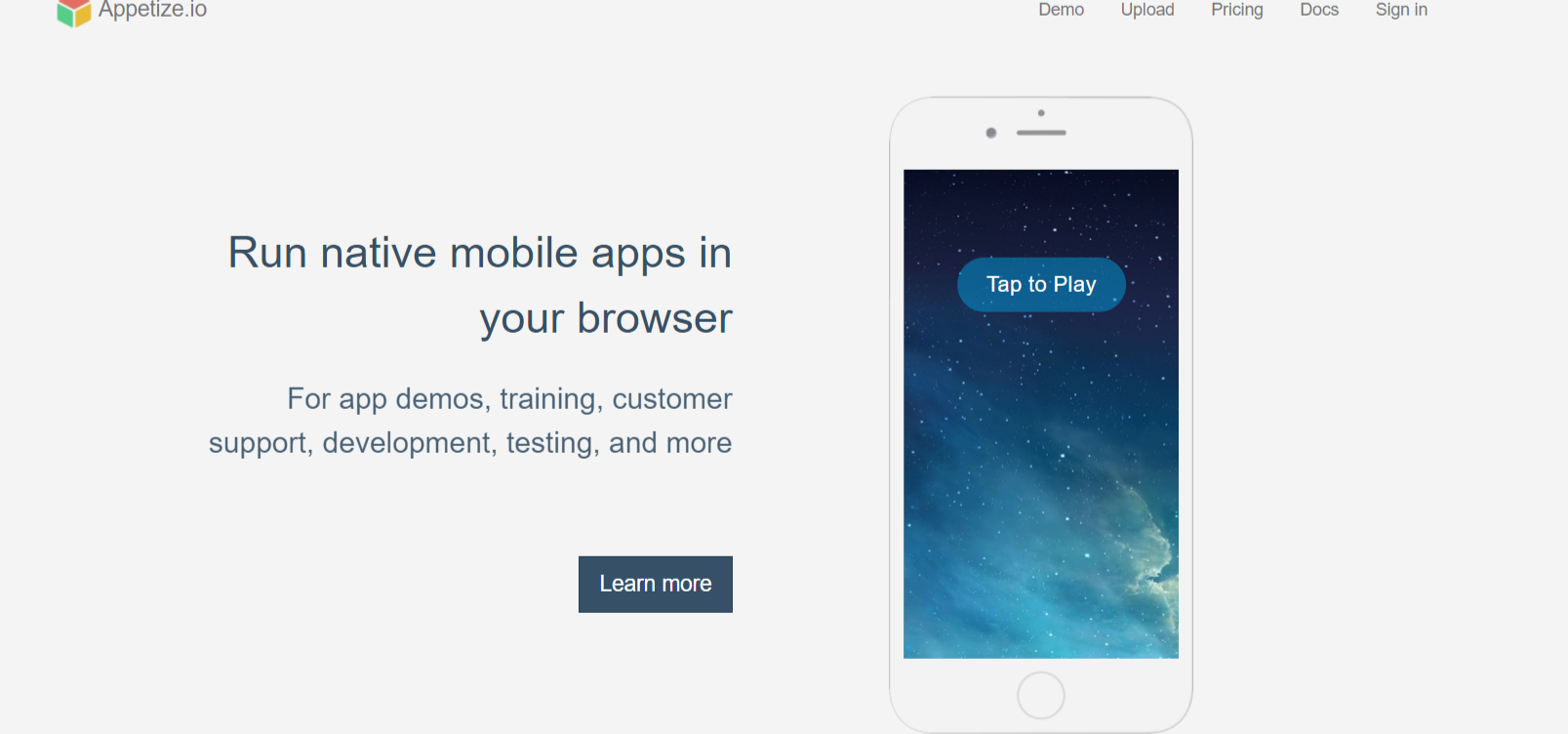 Appetize io Run native mobile apps in your browser- iOS Emulators