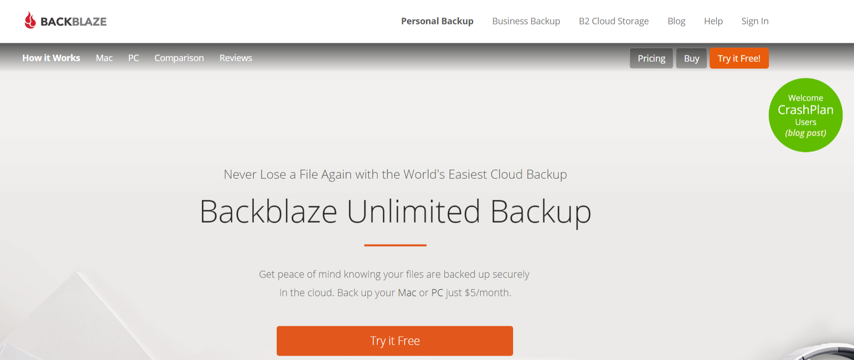 Backblaze- Best Cloud Backup Service For Mac