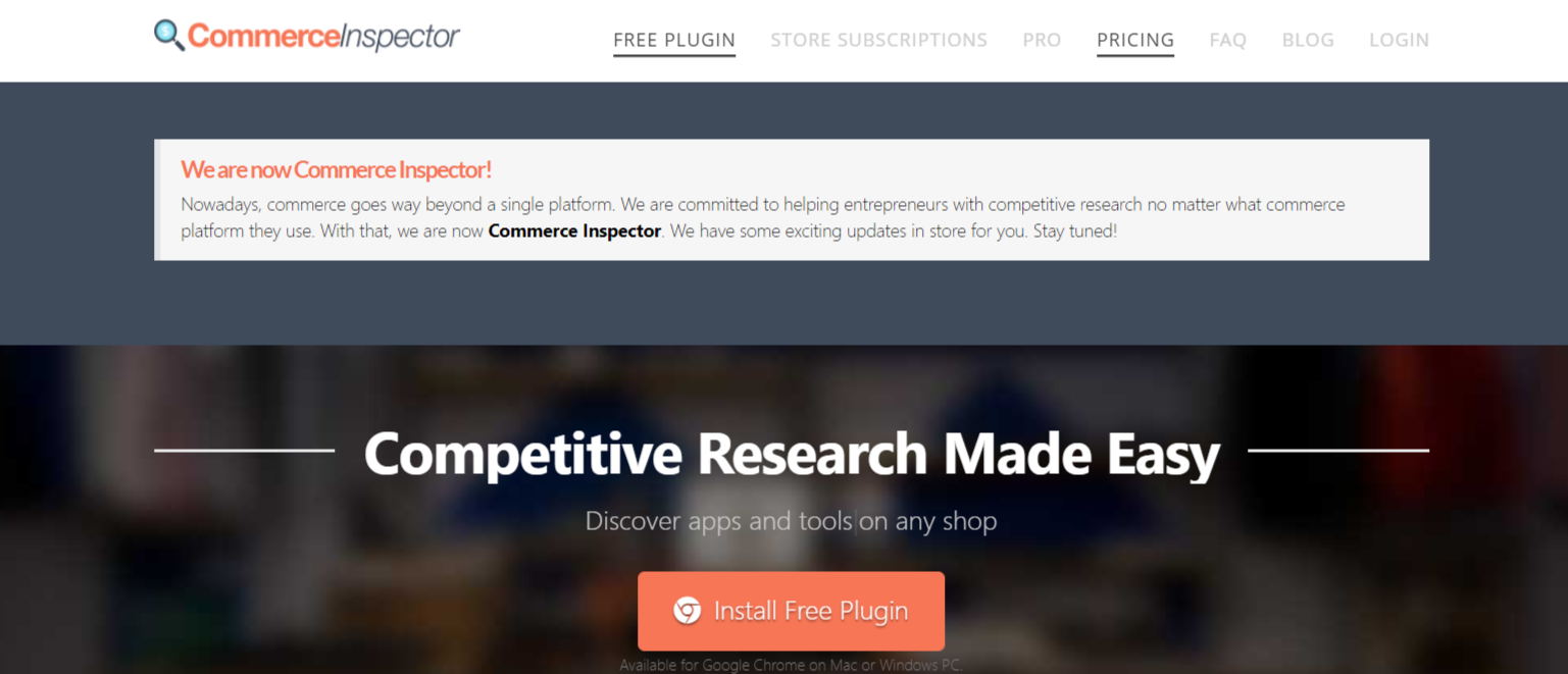 Commerce Inspector- Find Winning Shopify Products
