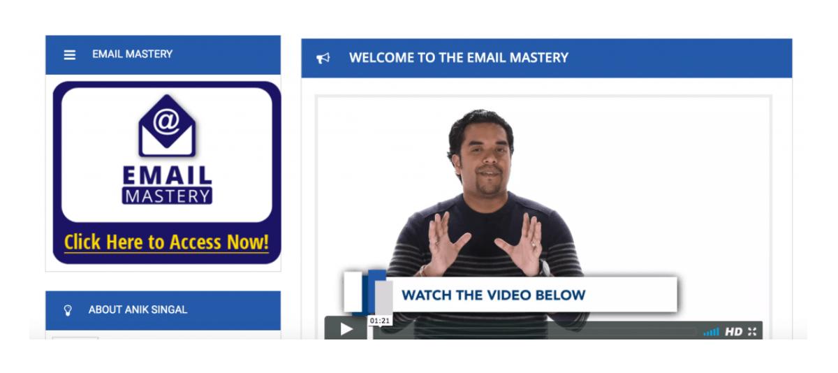 Email mastery Anik Singal
