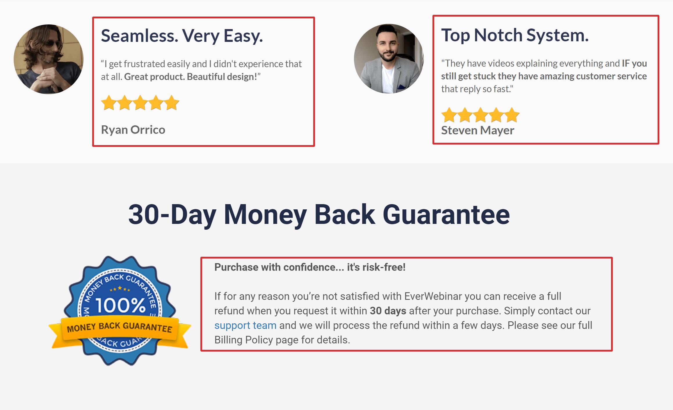 Everwebinar money back