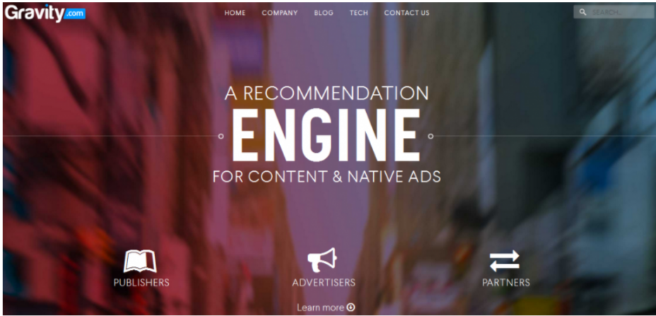 Gravity- Best Native Ads Network