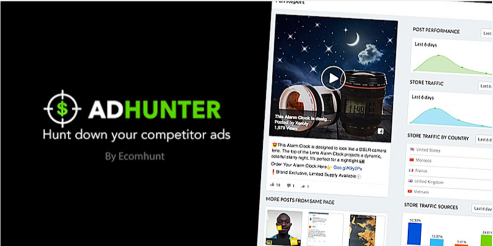 Introducing AdHunter – Reveal Your Competitors Facebook Ads Performance – Ecomhunt Review