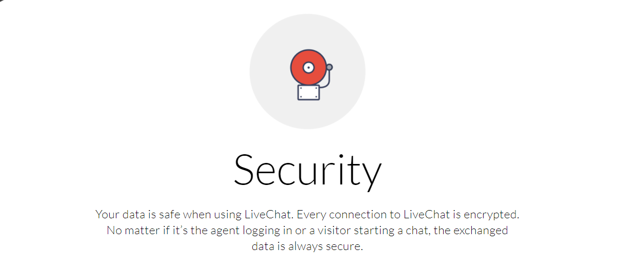 LiveChat Security Options - LiveChat Review