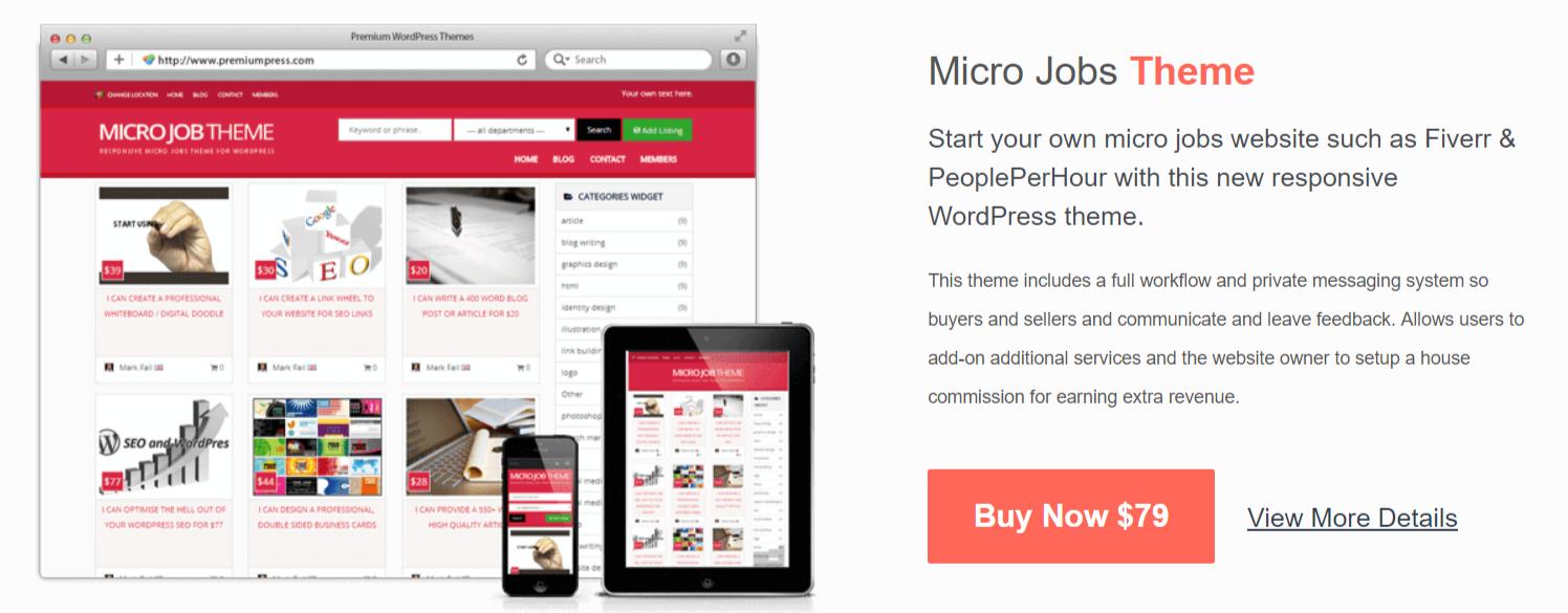 Micro Job Themes- PremiumPress Themes