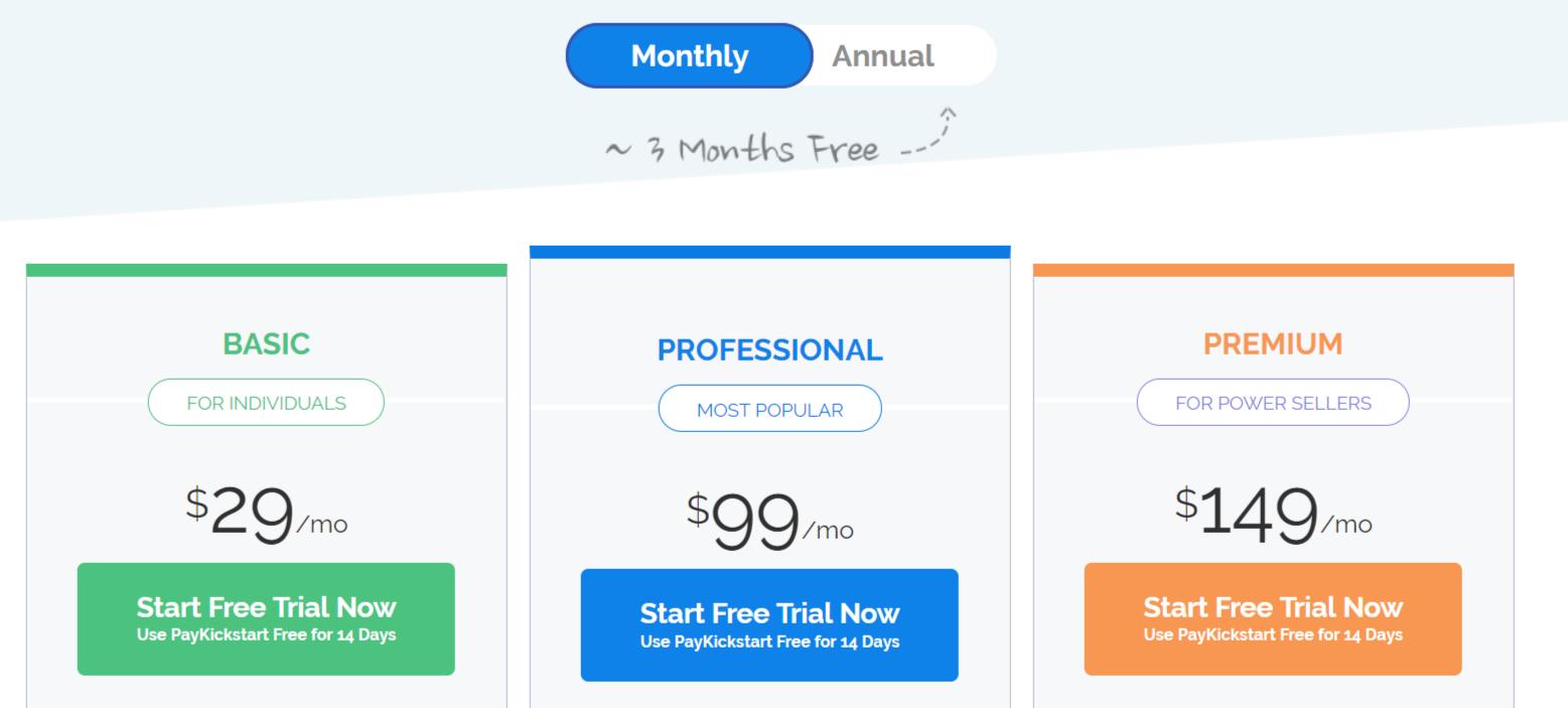PayKickStart - Pricing