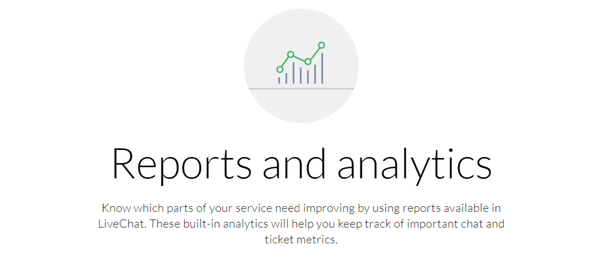Reports and analytics - LiveChat Review